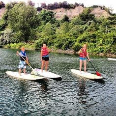 Family fun on paddle boards. #lake #summer http://greenwatersports.com #paddle #paddleboard #paddleboarding #sup #standuppaddleboarding #standuppaddle #greenwatersports