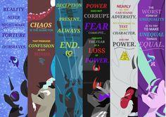 Villains Bookmark Pack by DarkestSunset