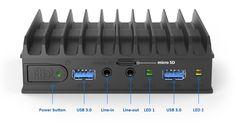 fitlet2 Power Button, Audio, Usb