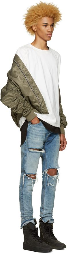 7f06dd07760f Fear of God - SSENSE Exclusive Green 4th Collection Bomber Jacket Bomber  Jacket