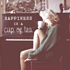 Tea - a cup of Earl Gray in the morning, please.  She reminds me of Marilyn Monroe.