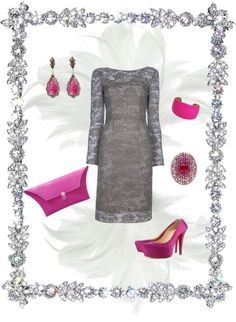 Fuschia and Grey, created by dtyler11 on Polyvore