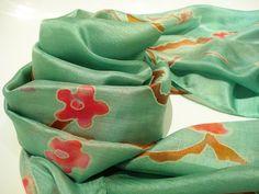 100% Silk Scarf. Designed by Genuie.