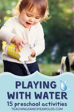 Preschoolers love water activities all year around. Thank goodness there are so many different ways of playing with it. We've collected 15 favorites that encourage hands-on learning! #preschool #water #play #finemotor #sensory #activity #kids #AGE3 #AGE4 #teaching2and3yearolds Tactile Activities, Toddler Learning Activities, Parenting Toddlers, Hands On Activities, Kindergarten Activities, Preschool Water Activities, Kids Learning, Preschool Garden, Preschool At Home