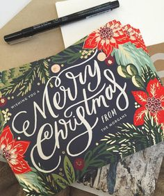 Spread holiday cheer with a stylish Christmas greeting card from Minted.  Image courtesy of Little Blond and Bubbly.