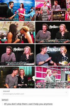Jeremy Renner & Scarlett Johansson