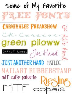Font Freaks Unite! - Some of My Favorite Free Fonts  ~~  {14 Free fonts with easy links}