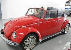 1968 red vw convertible