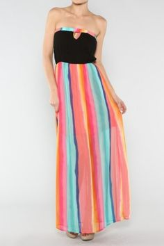 salediem.com boutique fashion not boutique prices.  Shipping FREE Solid and Stripe Maxi