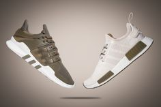 "8af04f02d Champs Sports just announced its own release of the adidas NMD and adidas  EQT Support ADV in exclusive ""Chalk White"" and Olive colorways."