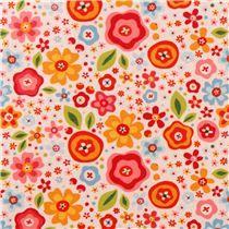 Tissu laminé Riley Blake My Sunshine crème à fleurs  - Toiles cirées - Tissus