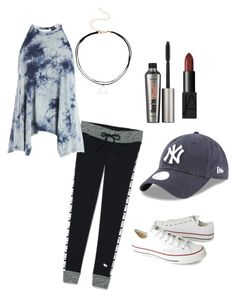 """""""I don't no"""" by mone-blopes ❤ liked on Polyvore featuring Victoria's Secret, Sans Souci, NARS Cosmetics, Benefit and Converse"""