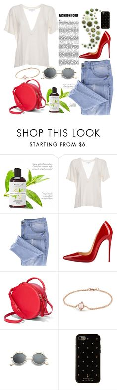 """icon"" by juliafri-jf ❤ liked on Polyvore featuring IRO, Essie, Christian Louboutin, The Fix, David Yurman and Kate Spade"
