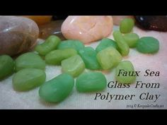 Faux Sea Glass Beads -Polymer Clay Tutorial by Sandy Huntress of Keepsake Crafts Polymer Clay Kunst, Polymer Clay Canes, Fimo Clay, Polymer Clay Projects, Polymer Clay Creations, Polymer Clay Jewelry, Biscuit, Clay Videos, Clay Design