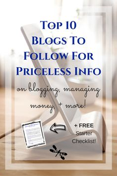I've compiled a list of 10 must-follow blogs if you're into blogging, managing money, being a stay at home mom, working from home...Just about anything really! Go check out these amazing blogs that helped put fire in my belly to start my own blog!