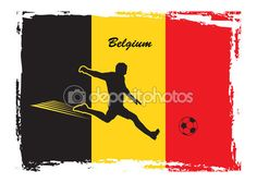 Soccer player on Belgium flag background. European championship abstract Vector Illustration. Belgium flag. Soccer icon Belgium. Color of Belgian flag. For Art, Print, Web design. Football Sport/ — Stock Vector © sofiartmedia.gmail.com #116006446