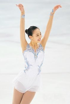 So-Yeon Park, White Figure Skating / Ice Skating dress inspiration for Sk8 Gr8 Designs.