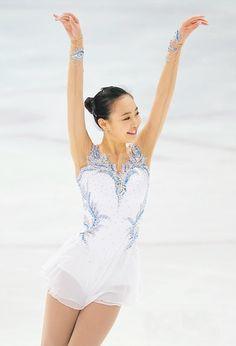 So-Yeon Park, White Figure Skating / Ice Skating dress inspiration for Sk8 Gr8 Designs.