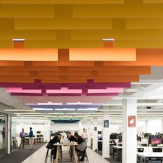 Hanging Pantone Colour cards - another way to delineate zones?  MOO Office Spine Agency: Peldon Rose