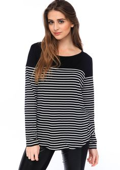 love this awesome designer sale Breton Top, Designer Sale, Things To Buy, Stuff To Buy, Black Tops, Autumn, Awesome, Winter, How To Wear