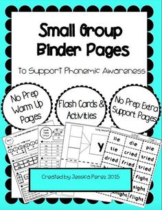 This binder pack is filled with phonics and phonemic awareness strategies and skills to get students reading!  Print and go pages make it easy to use.  Included are many resources such as flashcards and templates for reinforcement.