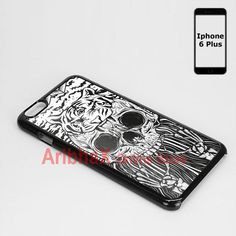 Iphone Case 6 plus Skull and Tiger Pattern #Generic