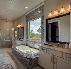 Jetted Bathtub Separating The His And Hers Vanities In This Gorgeous D.R.  Horton Home   San