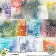 Awesome Mixed Media Papers