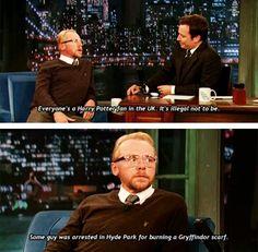 Simon Pegg on Harry Potter fandom