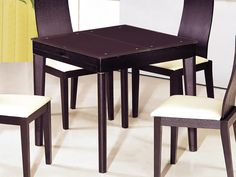 """Athome DT6015 Dining Table - The wooden dining table. Sliding table wenge.It fits into any modern interior. Dimensions: 32""""/51"""" x 32"""" x 30""""."""