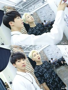 Jin and Rap Monster