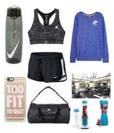 """""""Work"""" by emmaraej on Polyvore featuring NIKE, adidas, Casetify, Elite and Breville"""