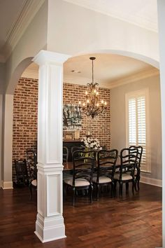 love this look. brick accent walls are easy diy with our faux brick panels at fauxstonesheets.com so real. check out a sample