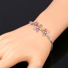 U7 Luxury Fashion 18K Gold Plated Cubic Zironia Earrings Crystal Pendant Necklace Bracelet  #Jewelry