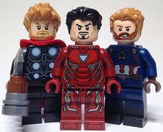 The 3 beards Lego Spiderman, Lego Marvel's Avengers, Lego Marvel Super Heroes, Lego Minifigs, Lego Technic, Lego Iron Man, Lego Design, Lego Photography, Custom Lego