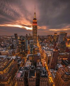 The Empire State Building - New Yor City, USA. Photo by @wantedvisual