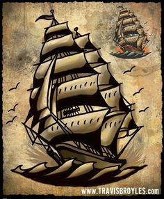 I think I want a ship as my next tattoo! :)