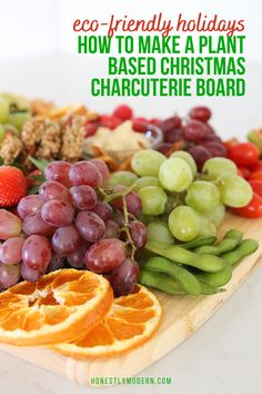 Try this super easy plant-based charcuterie board for Christmas! It's a great way to use up leftovers and prevent food waste while also making everyday meals a little more festive for the holiday season. Plant Based Snacks, Peppermint Sticks, Dried Oranges, Green Grapes, Love Eat, Food Waste, Charcuterie Board, Picky Eaters, Meals