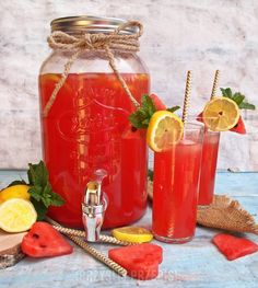 Lemoniada arbuzowo - cytrynowa