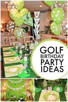 Golf Birthday Party Ideas for Boys www.spaceshipsandlaserbeams.com