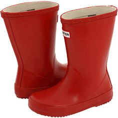 Red rain boots for William...not to mention an adorable hand-me-down for sis ;)