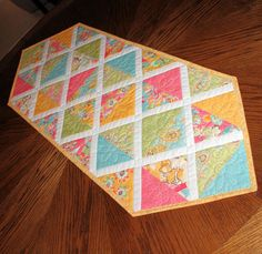 Spring and Easter Triangles Table Runner with by QuiltSewPieceful, $40.00 Quiltsy Team