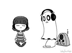 Napstablook and frisk