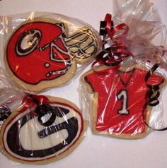 Georgia football cookies #unbelievablepepsinextparty Football Cupcake Cakes, Football Cookies, Football Food, 16th Birthday, Birthday Parties, Birthday Ideas, Peach Party, Party Themes For Boys, Party Trays