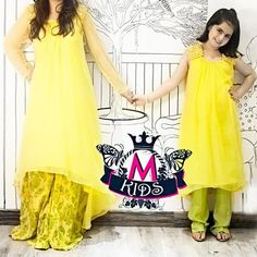 eid collection 2013 tail dresses in pakistan yellow Maria B Kids Eid ...