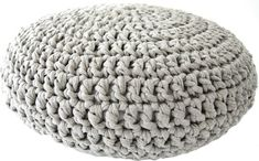 The pouf is made with t-shirt yarn, which you can buy hereand you have to crochet this pouf with at least a needle size that's 10 mm thick, you can buy them here. You can use a thicker needle but make sure your yarn matches the needle size. Thicker yarn and needle will only make…