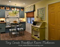 Bright and colorful breakfast nook