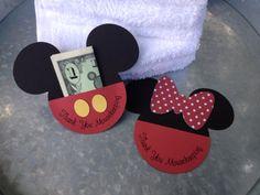 Set of 8 Mousekeeping Envelope Mickey & Minnie by nickandjojo