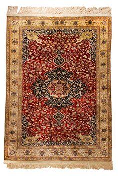 Kayseri (Caesarea) Turkey, Silk Rug, Size 175 cm x 119 cm.