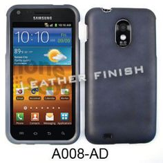 Unlimited Cellular Snap-On Cover for Samsung Galaxy S2 Epic 4G D710/R760 (Honey Metalic Gray, Leather Finish)